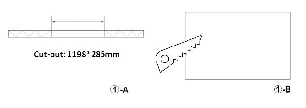 LED Panel Light 1x4